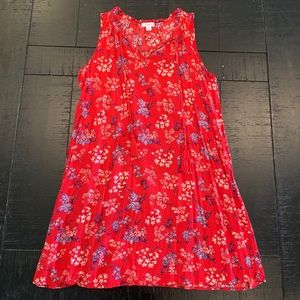 Red, White & Blue Floral Sundress